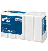 Tork Tork tissue servet 33x33cm 1-laags 1/4-vouw wit 4x4x100
