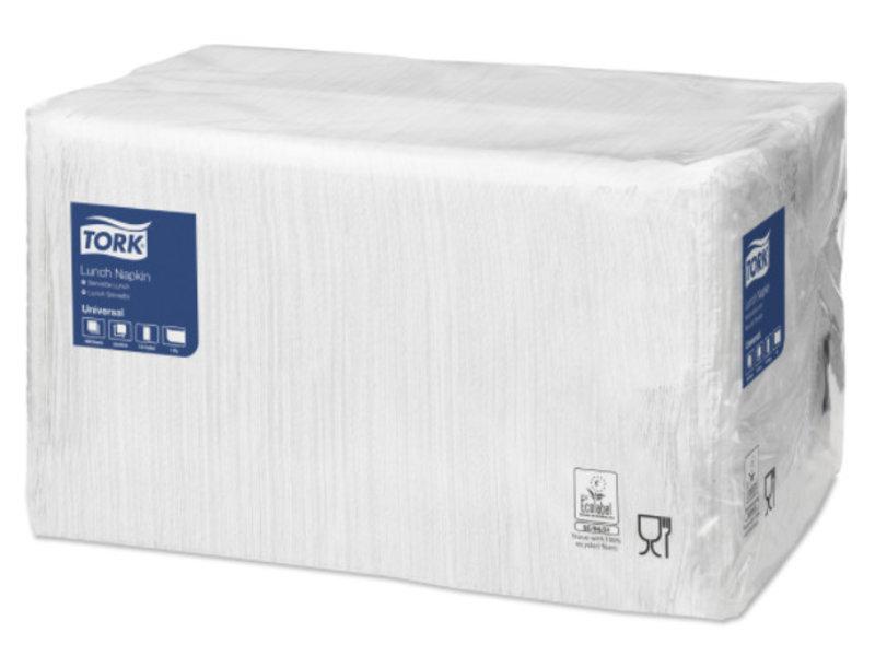 Tork Tork tissue servet 33x33cm 1-laags 1/8-vouw wit 9x500