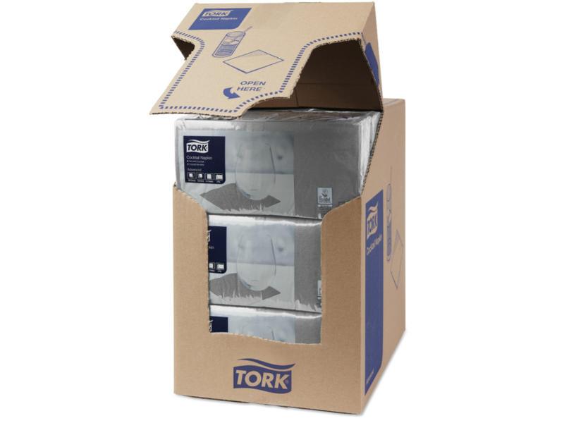 Tork Tork tissue servet 23x23cm 2-laags 1/4-vouw grijs 10x300