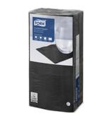Tork Tork tissue servet 23x23cm 2-laags 1/4-vouw zwart 10x300