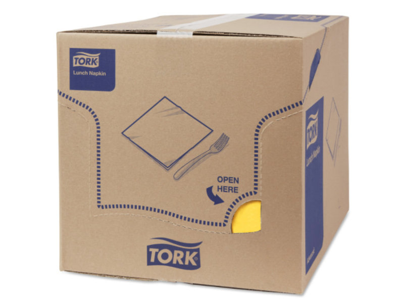 Tork Tork tissue servet 33x33cm 3-laags 1/8-vouw passion yellow 10x150