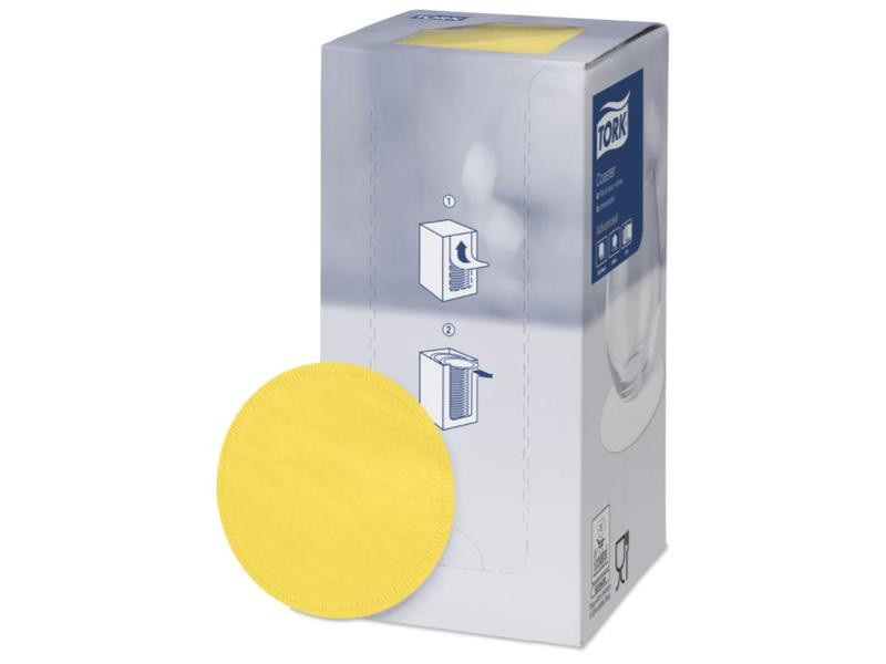Tork Tork onderzetter 8-laags Ø9cm passion yellow 12x250