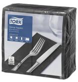 Tork Tork tissue servet 39x39cm 2-laags 1/8-vouw zwart 12x150