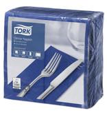 Tork Tork tissue servet 39x39cm 2-laags 1/8-vouw donker blauw 12x150