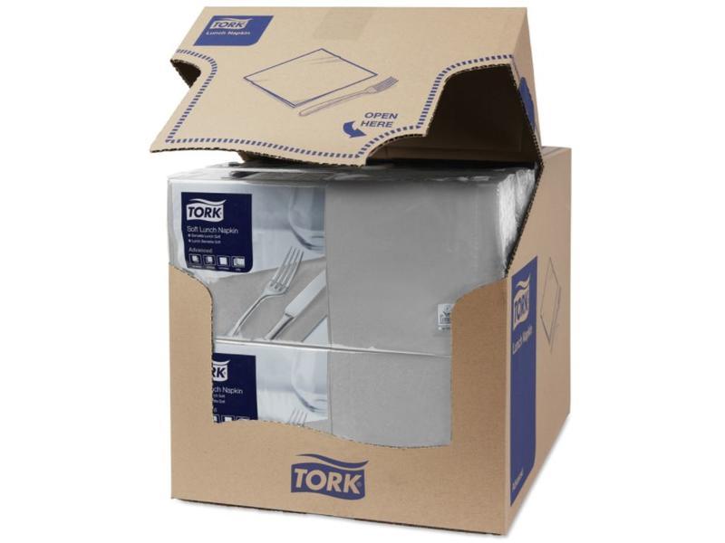 Tork Tork tissue servet 33x33cm 3-laags 1/4-vouw grijs 10x150