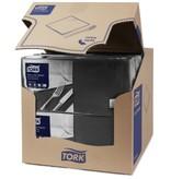 Tork Tork tissue servet 33x33cm 3-laags 1/4-vouw zwart 10x150