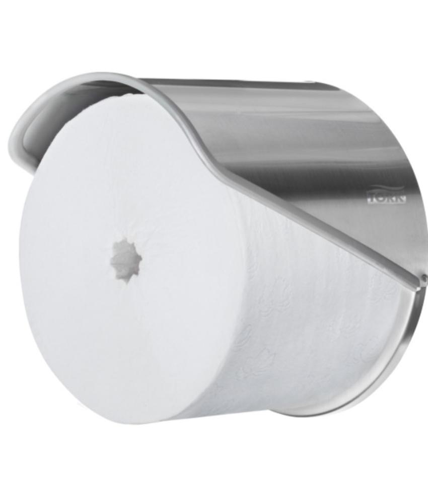 Tork Hulsloos Mid-size Toiletpapier Dispenser 1-rol RVS T7