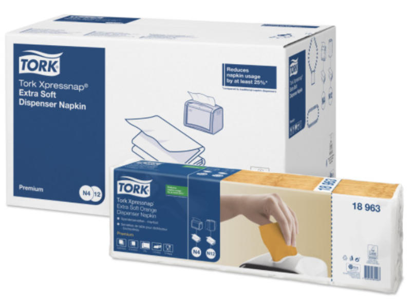 Tork Tork Xpressnap® dispenserservet 21,6x16,5cm 2-laags 1/2-vouw oranje