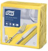 Tork Tork tissue servet 39x39cm 3-laags 1/4-vouw geel 12x100