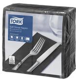 Tork Tork tissue servet 39x39cm 3-laags 1/8-vouw zwart 12x100