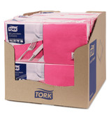 Tork Tork tissue servet 33x33cm 3-laags 1/4-vouw roze 10x150