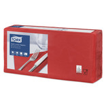 Tork Tork tissue servet 33x33cm 3-laags 1/4-vouw rood 10x150