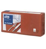 Tork Tork tissue servet 33x33cm 3-laags 1/4-vouw terracotta 10x150