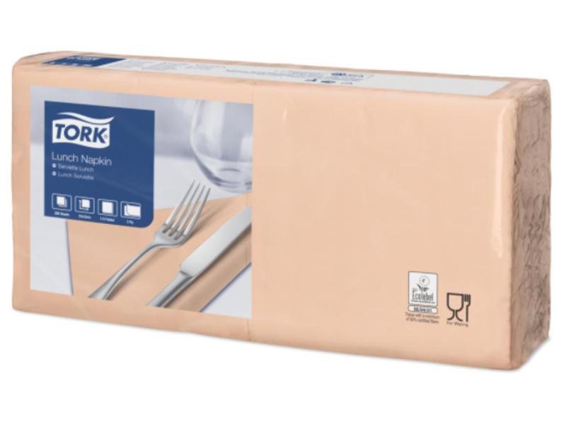 Tork Tork tissue servet 33x33cm 2-laags 1/4-vouw perzik 10x200