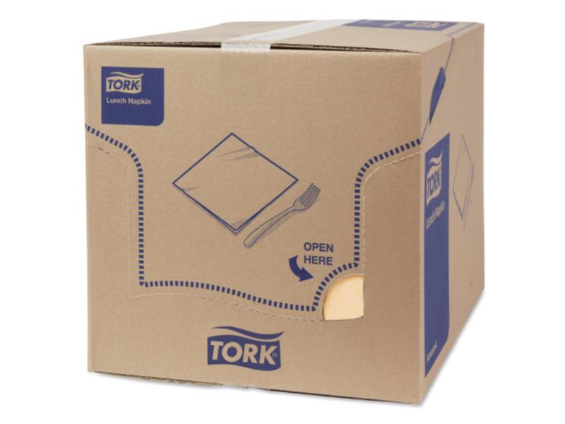 Tork Tork tissue servet 33x33cm 3-laags 1/8-vouw zand 10x150