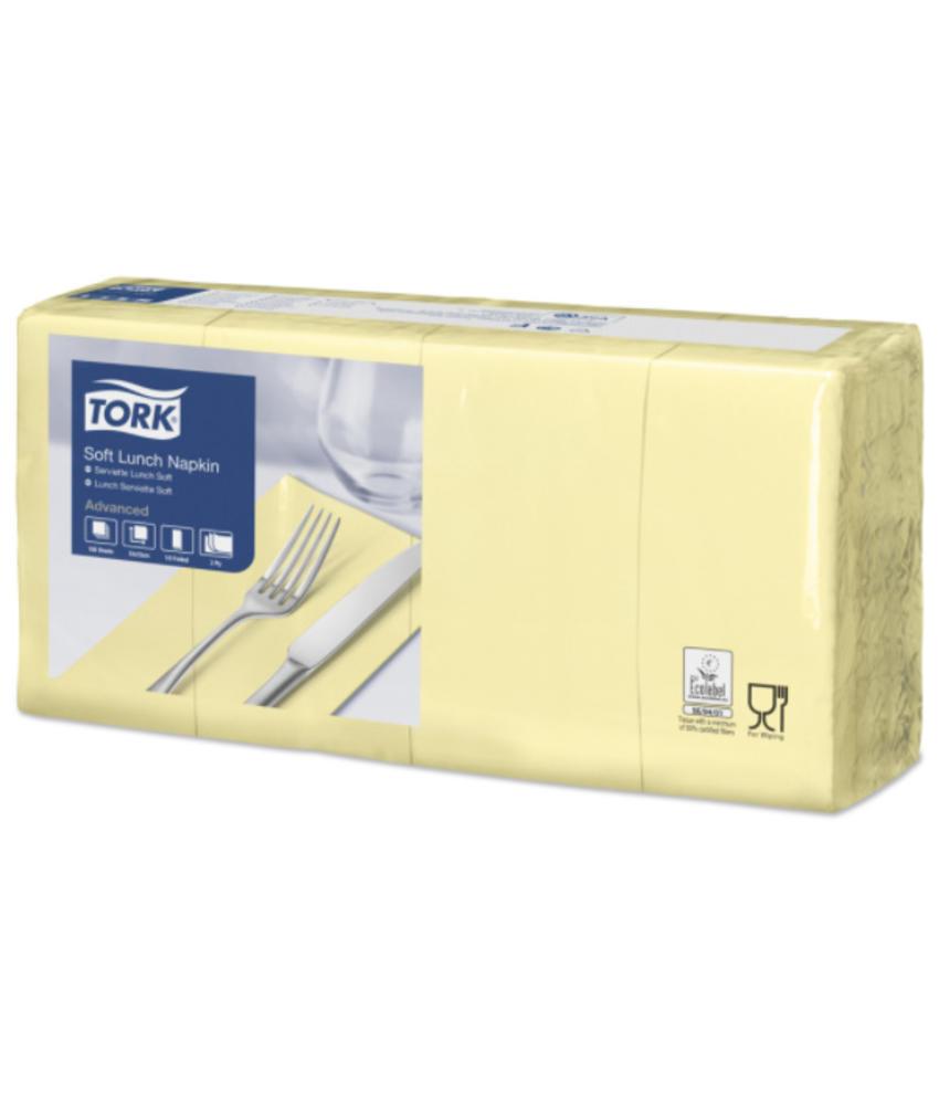 Tork tissue servet 33x33cm 3-laags 1/8-vouw champagne 10x150