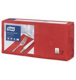Tork Tork tissue servet 33x33cm 3-laags 1/8-vouw rood 10x150