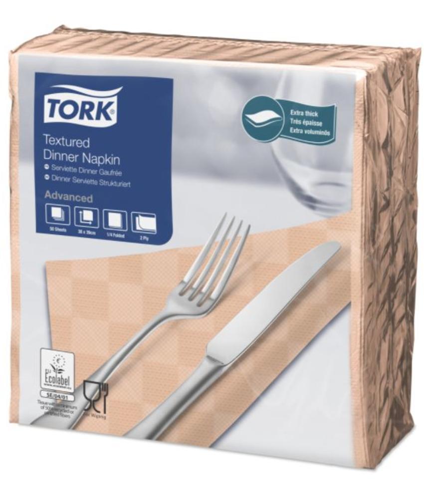 Tork NexxStyle® servet 38x39cm 2-laags 1/4-vouw Perzik 18x50