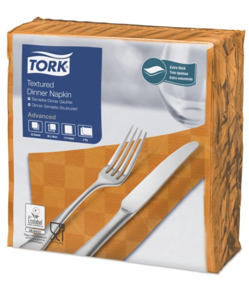 Tork NexxStyle® servet 38x39cm 2-laags 1/4-vouw oranje 18x50