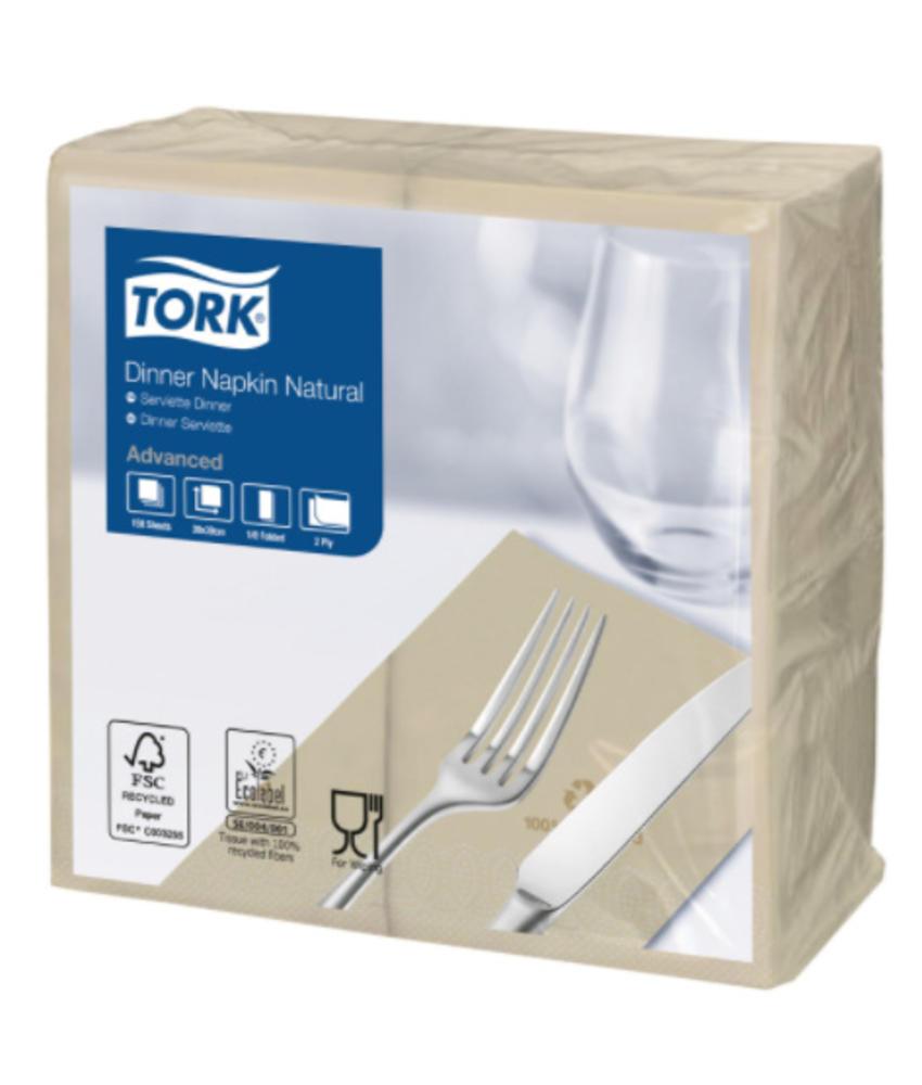 Tork Dinnerservet 39x39cm 2-laags 1/8 vouw 12x150 Naturel