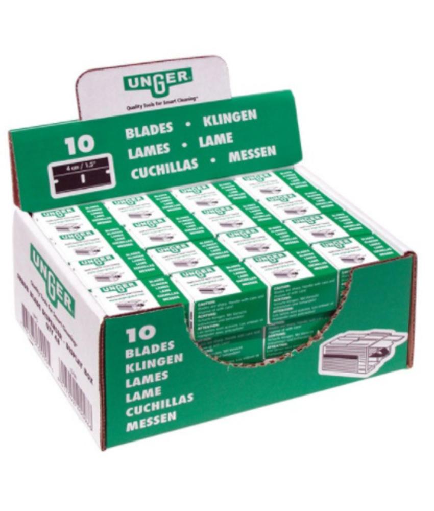 Mesjes voor veiligheidsschraper 4 cm - 10 mesjes in plastic box
