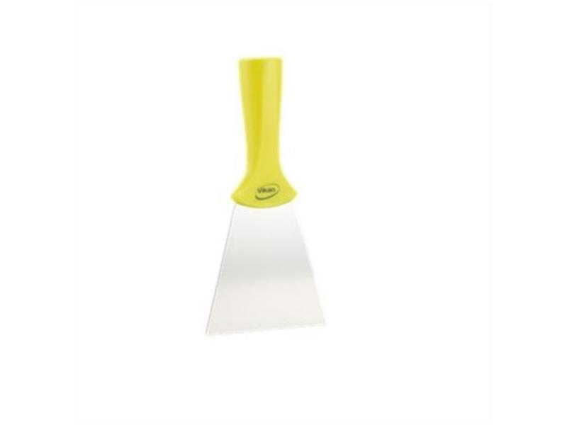 Vikan Vikan handschraper/schroefdraad 4011-6 geel, breed, rvs blad, 100x205mm /10