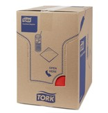 Tork Tork tissue servet 23x23cm 2-laags 1/4-vouw rood 10x300