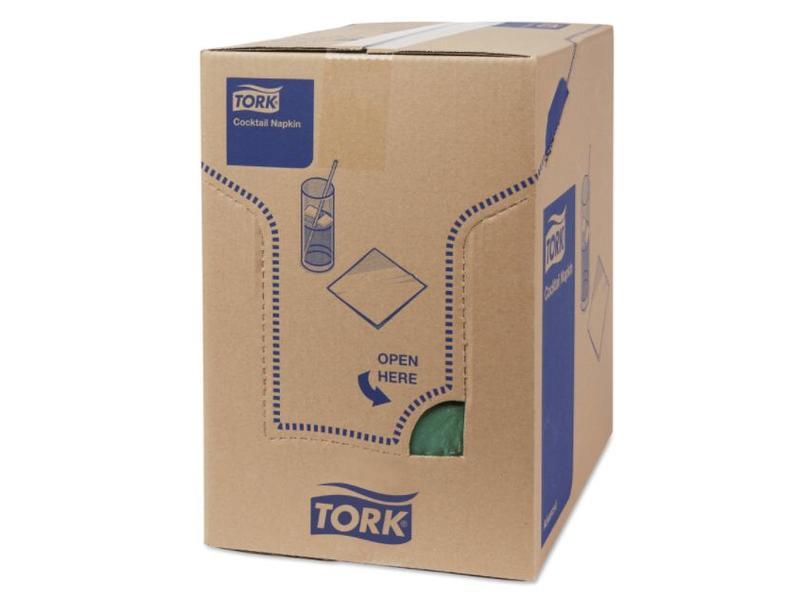 Tork Tork tissue servet 23x23cm 2-laags 1/4-vouw donkergroen 10x300