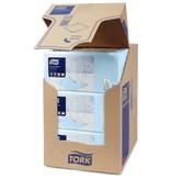 Tork Tork tissue servet 23x23cm 2-laags 1/4-vouw  lichtblauw 10x300