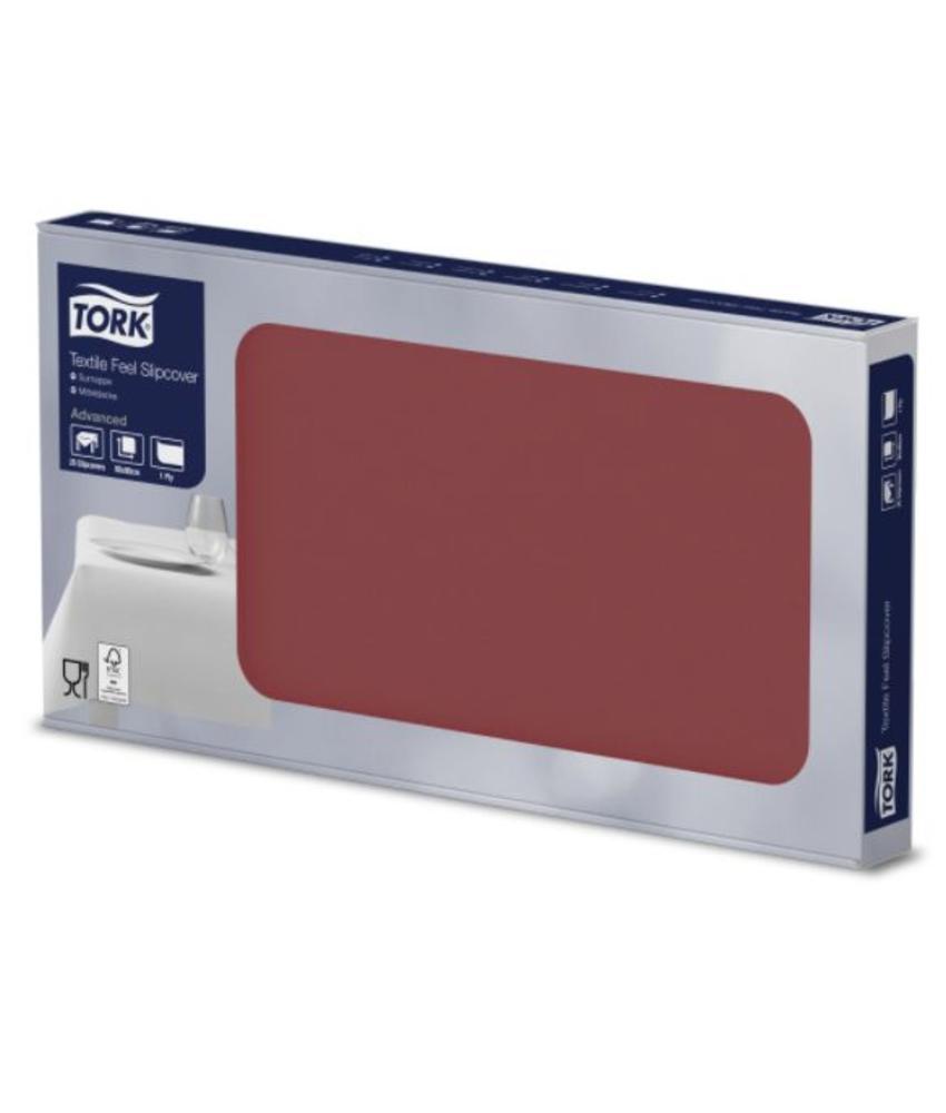 Tork Textile Feel Napperon 80x80 4x25 Bordeaux rood