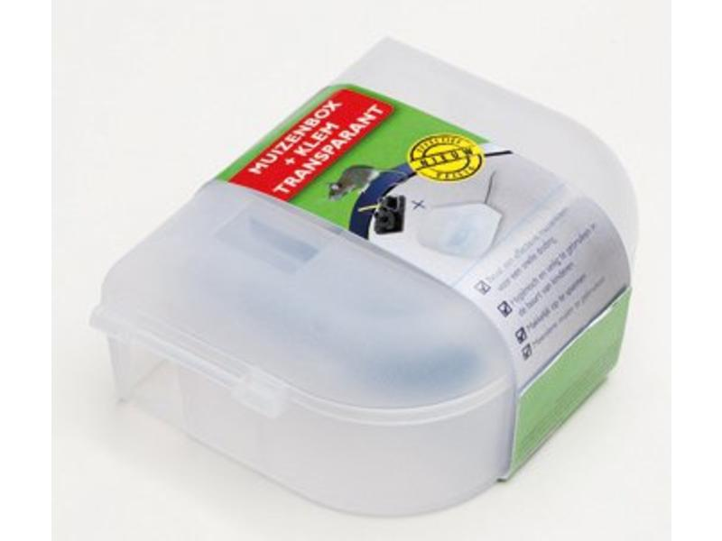 Luxan Luxan Muizenbox + Klem Transparant