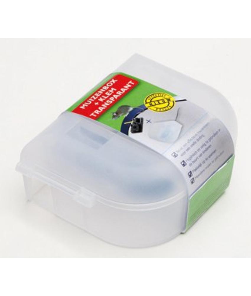Luxan Muizenbox + Klem Transparant