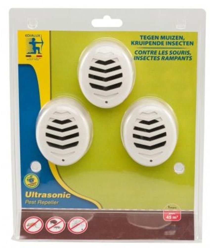 Ultrasonic Pest Repeller - 3 stuks