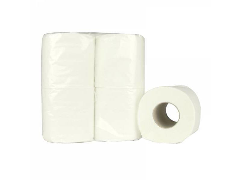 Eigen merk Toiletpapier Traditioneel, 200 vel, 2-laags, recycled tissue wit, 64 rollen