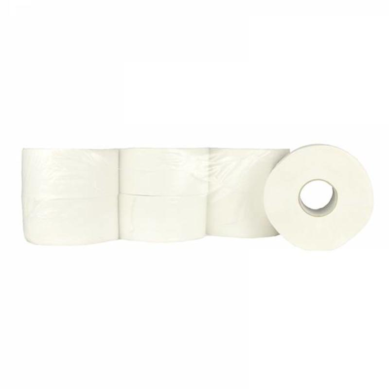 Toiletpapier Jumbo Mini, 12x 180M, 2-laags, cellulose, wit