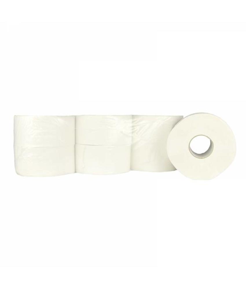 Toiletpapier Jumbo Mini, 12x 180M, 2-laags, cellulose, wit