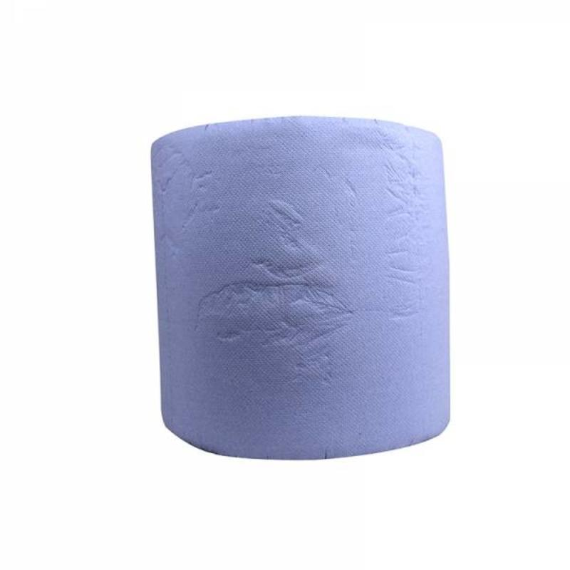 Industrierollen, 1000 vel, 36cm, 3-laags, cellulose, blauw, 1 rol