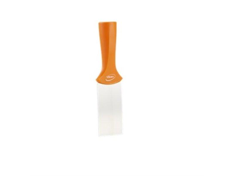 Vikan Vikan, RVS schraper steelmodel smal, 205x50mm, oranje