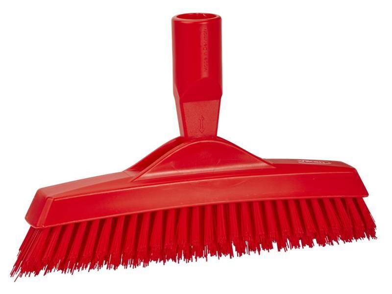 Vikan Vikan, Extra harde voegenborstel met flexibele nek, 225x35x90mm, rood