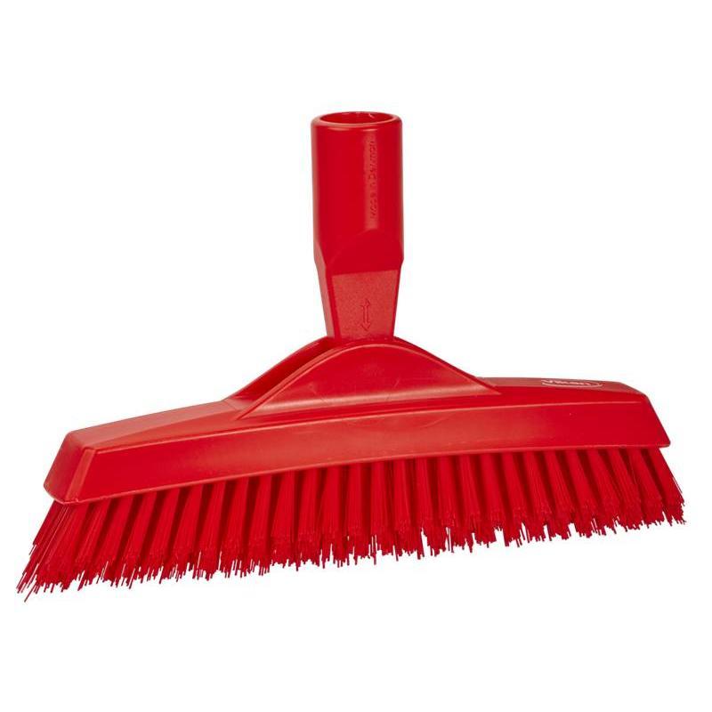 Vikan, Extra harde voegenborstel met flexibele nek, 225x35x90mm, rood