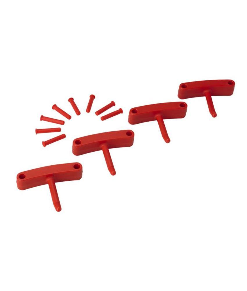 Vikan, Aanvulset haken voor full colour ophangsysteem, rood