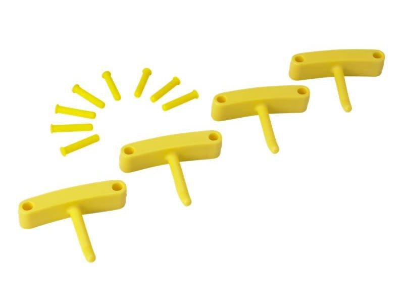 Vikan Vikan, Aanvulset haken voor full colour ophangsysteem, geel