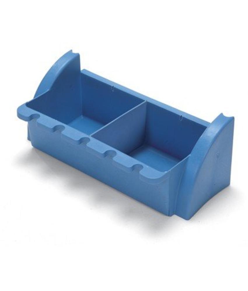 Numatic Tray smal blauw met bezeminkeping t.b.v. werkwagen XC 1