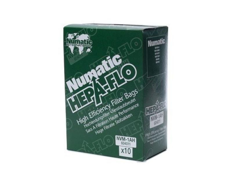 Numatic Numatic NVM-1AH HepaFlo stofzakken, 10 stuks
