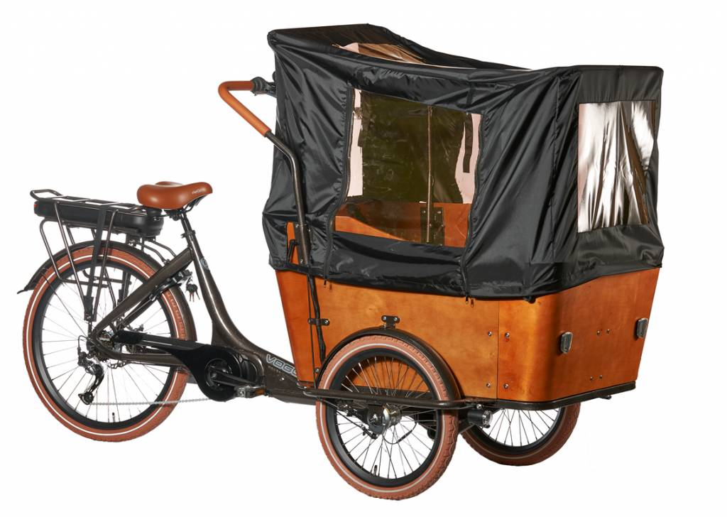 troy e bike cargo bakfiets 7 versnellingen bruin ado bike xl. Black Bedroom Furniture Sets. Home Design Ideas
