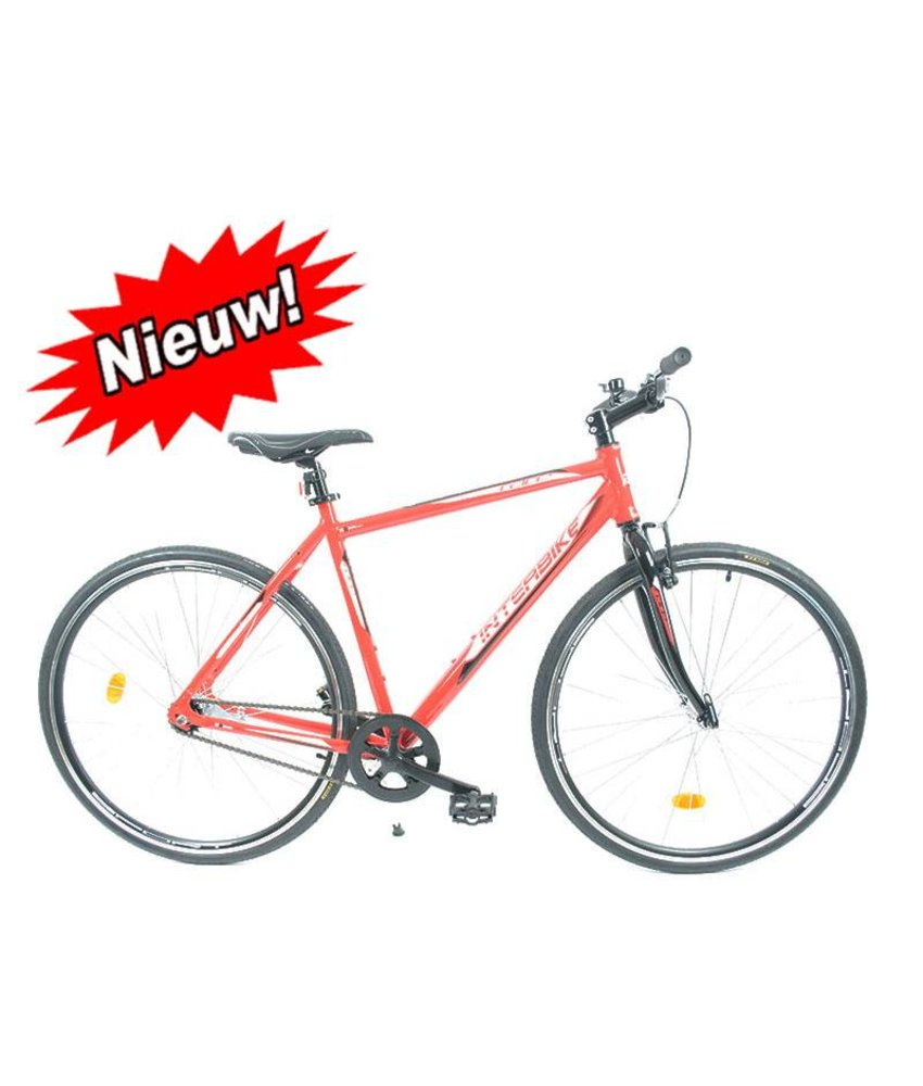 Fixie 28 inch rood herenfiets