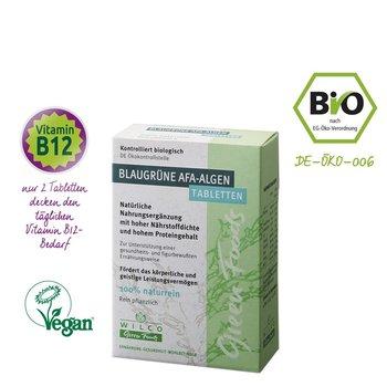 Wilco Green Foods Blaugrüne AFA Algen Bio, 60 Tabletten im Blister