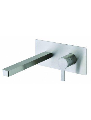 Steel & Brass Industrie-1-Loch-Einbauspüle Hahnmisch