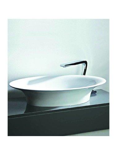 Steel & Brass Ovalen composite washbasin