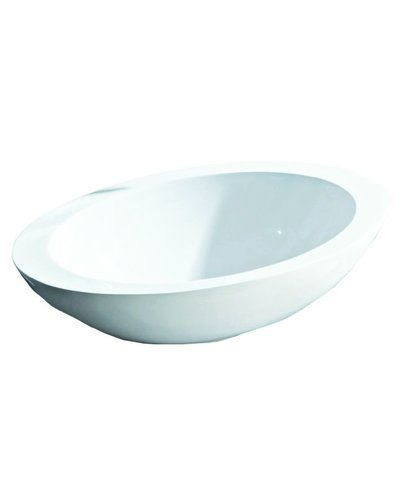 Steel & Brass Ovalen set-top composite washbasin